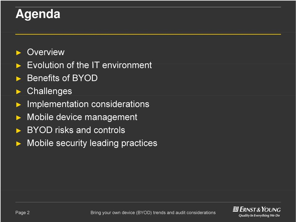 considerations Mobile device management BYOD