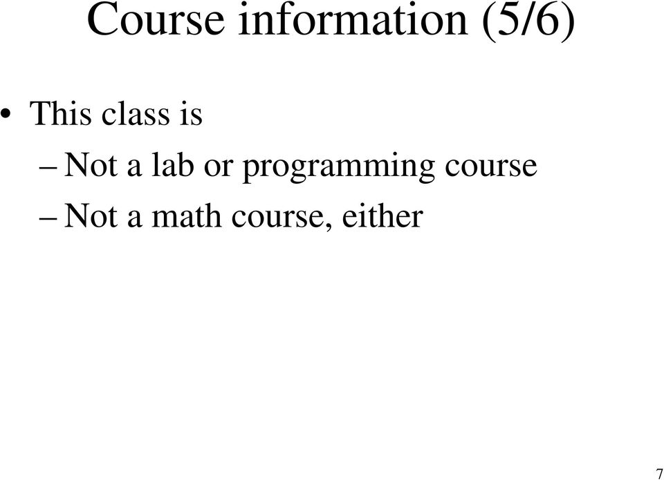 or programming course