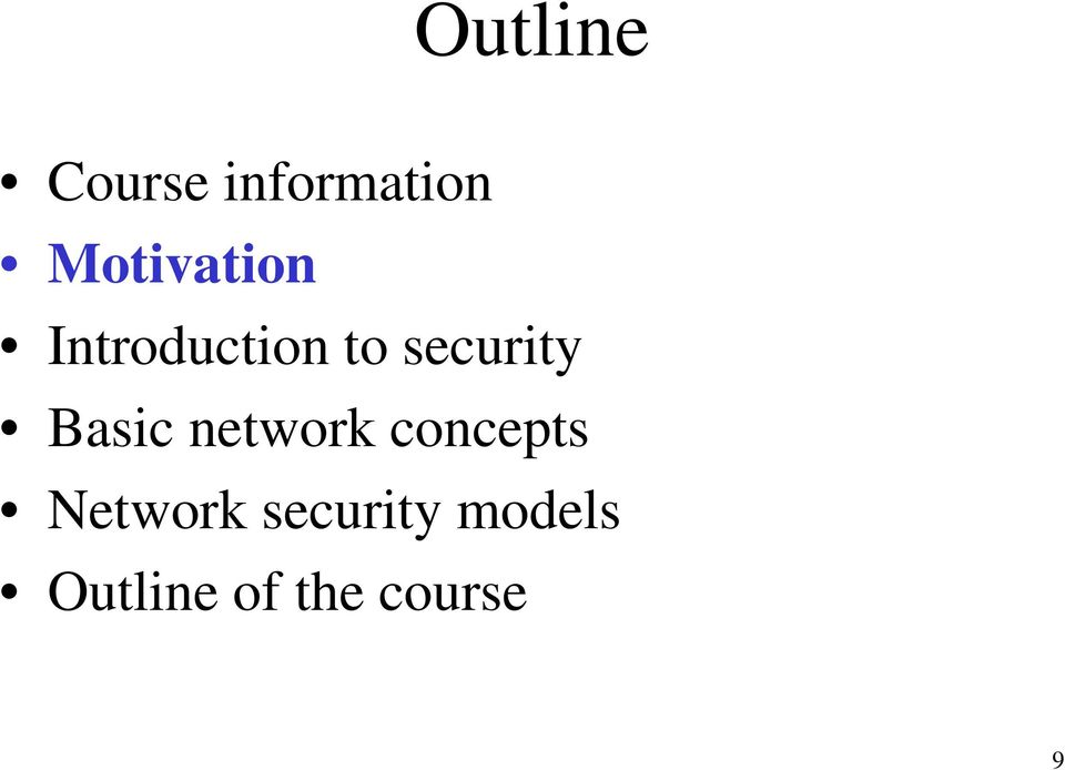 security Basic network concepts