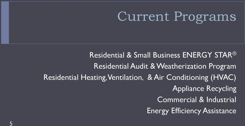 Heating, Ventilation, & Air Conditioning (HVAC) Appliance