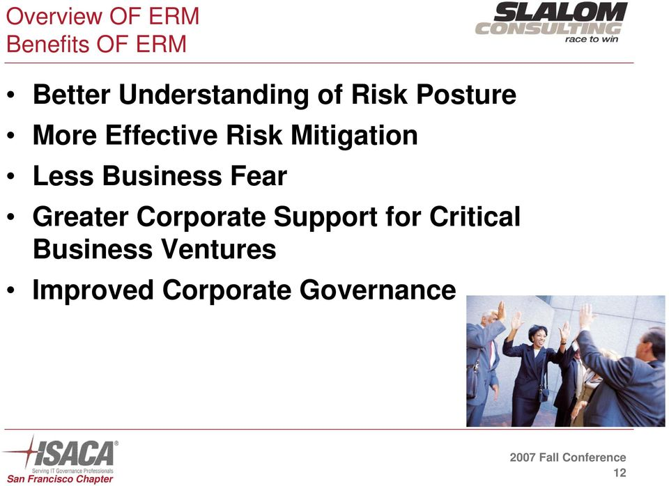 Mitigation Less Business Fear Greater Corporate