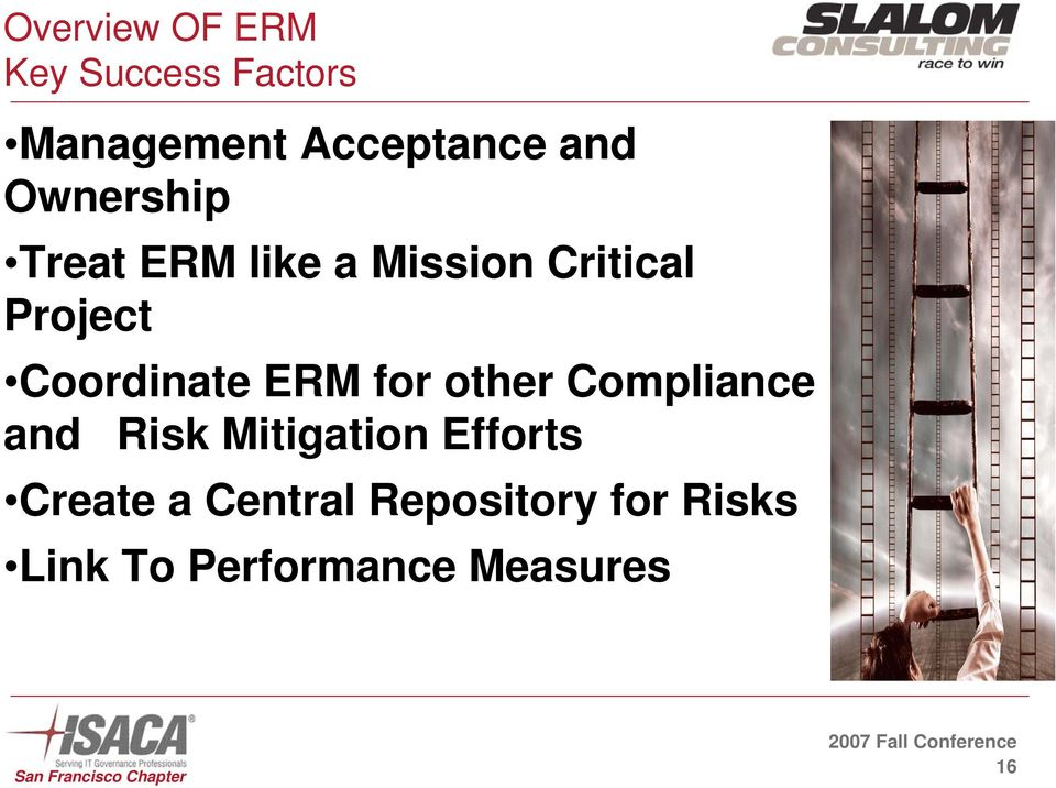 Coordinate ERM for other Compliance and Risk Mitigation