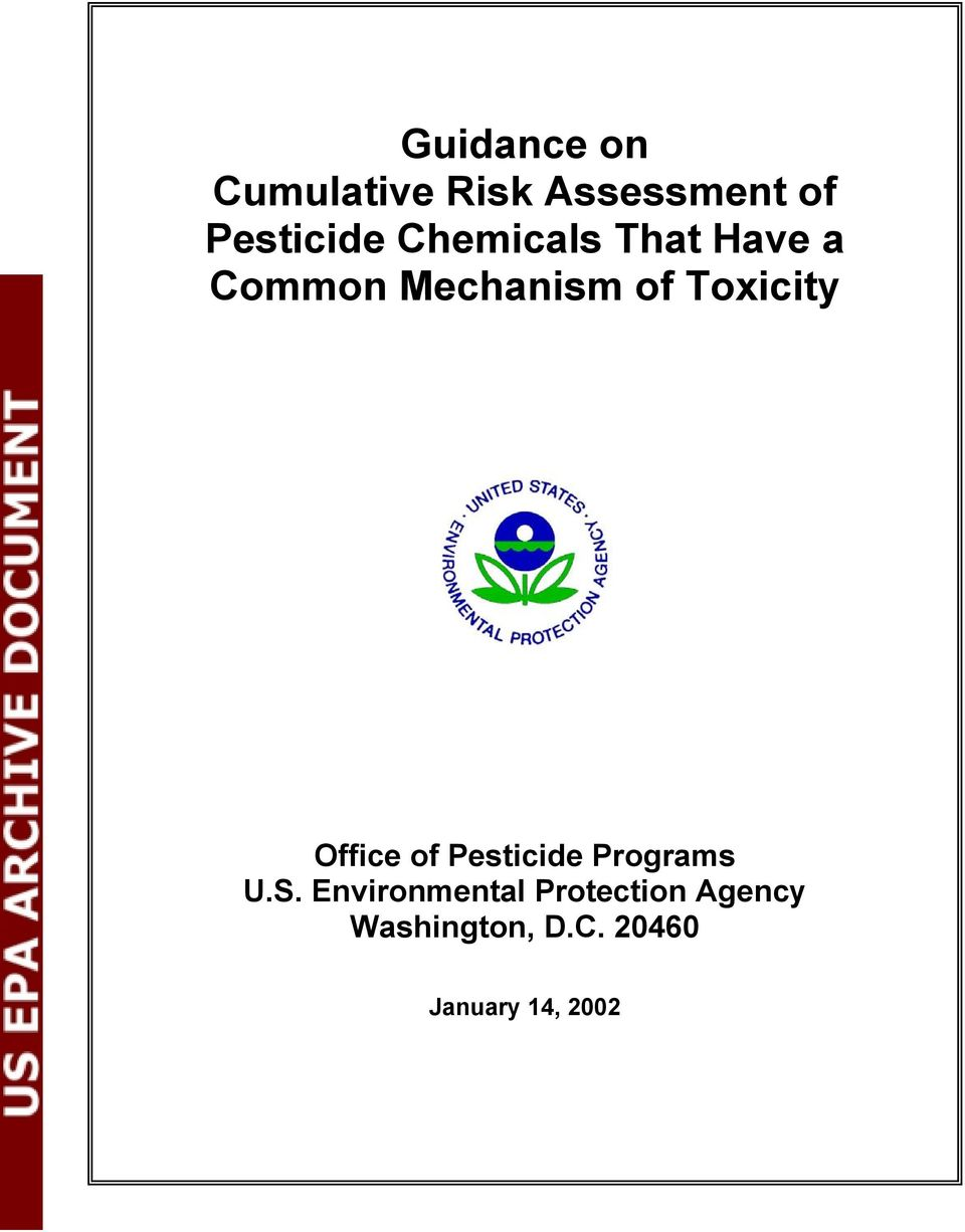 Office of Pesticide Programs U.S.