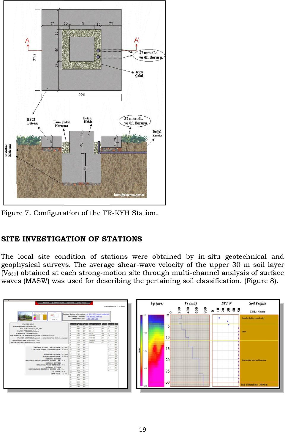 geotechnical and geophysical surveys.