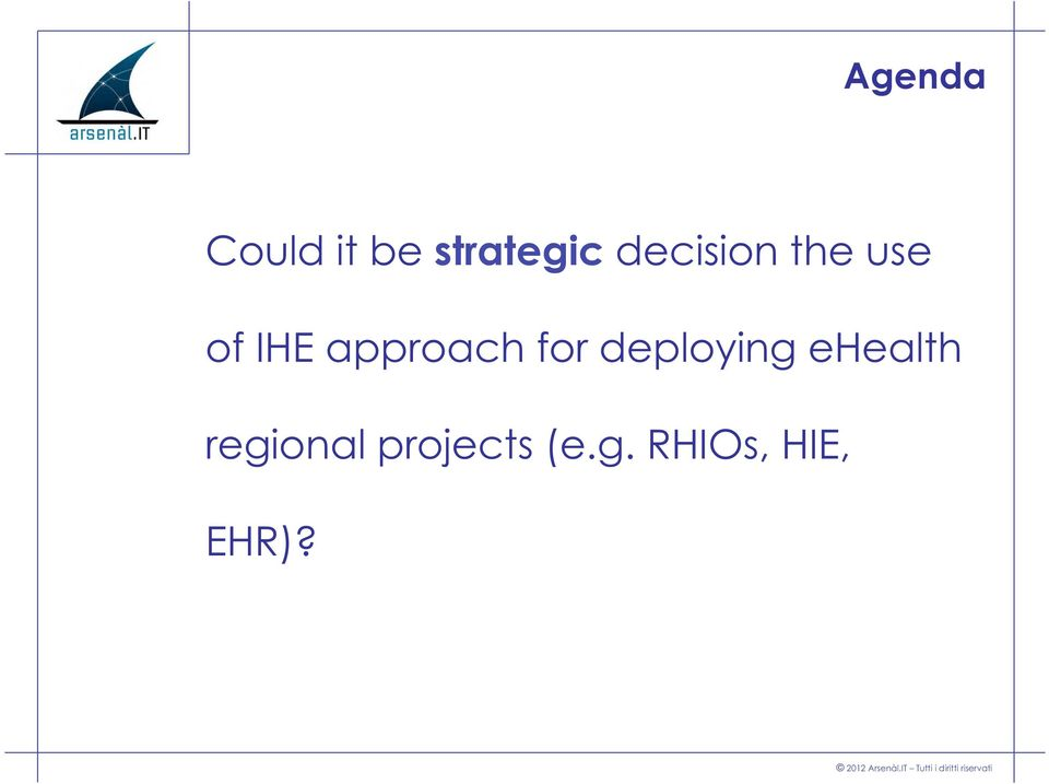 approach for deploying ehealth