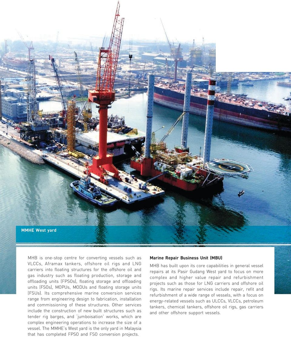 Its comprehensive marine conversion services range from engineering design to fabrication, installation and commissioning of these structures.