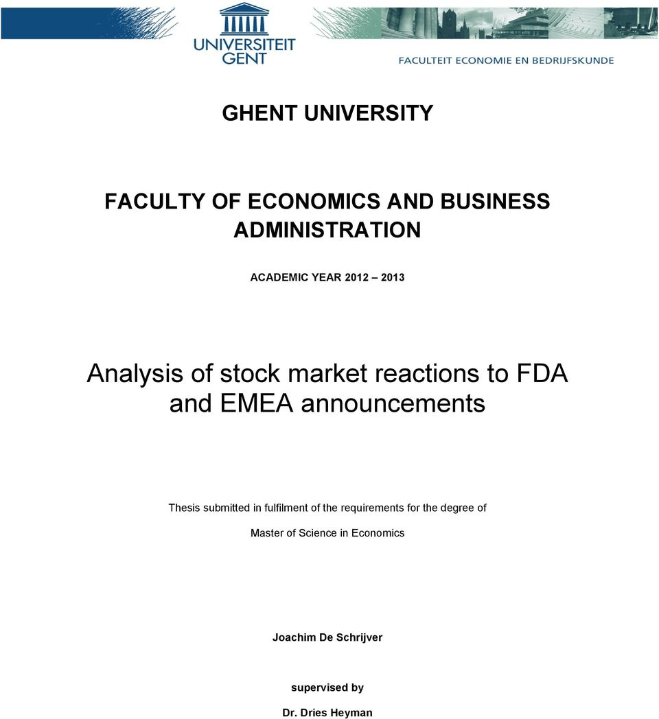 announcements Thesis submitted in fulfilment of the requirements for the