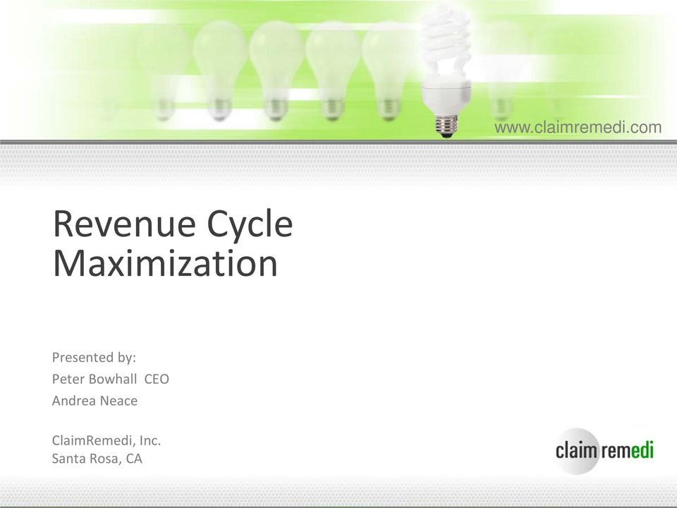 com Revenue Cycle Maximization