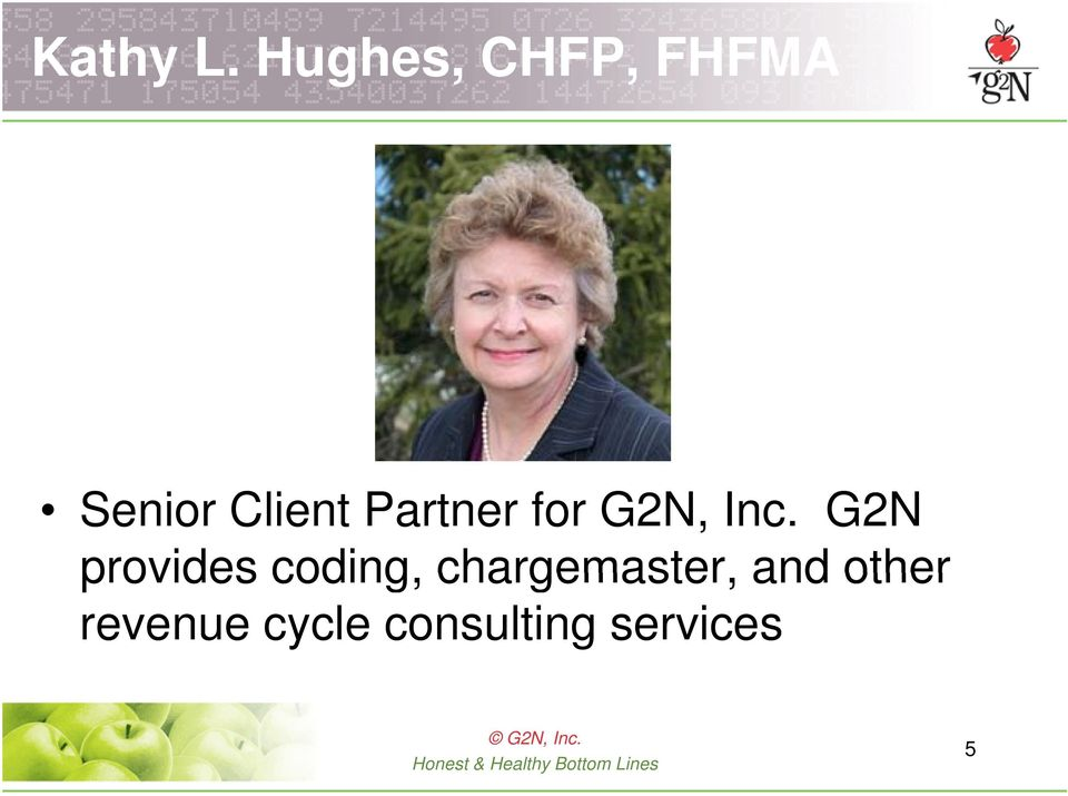 Partner for G2N, Inc.