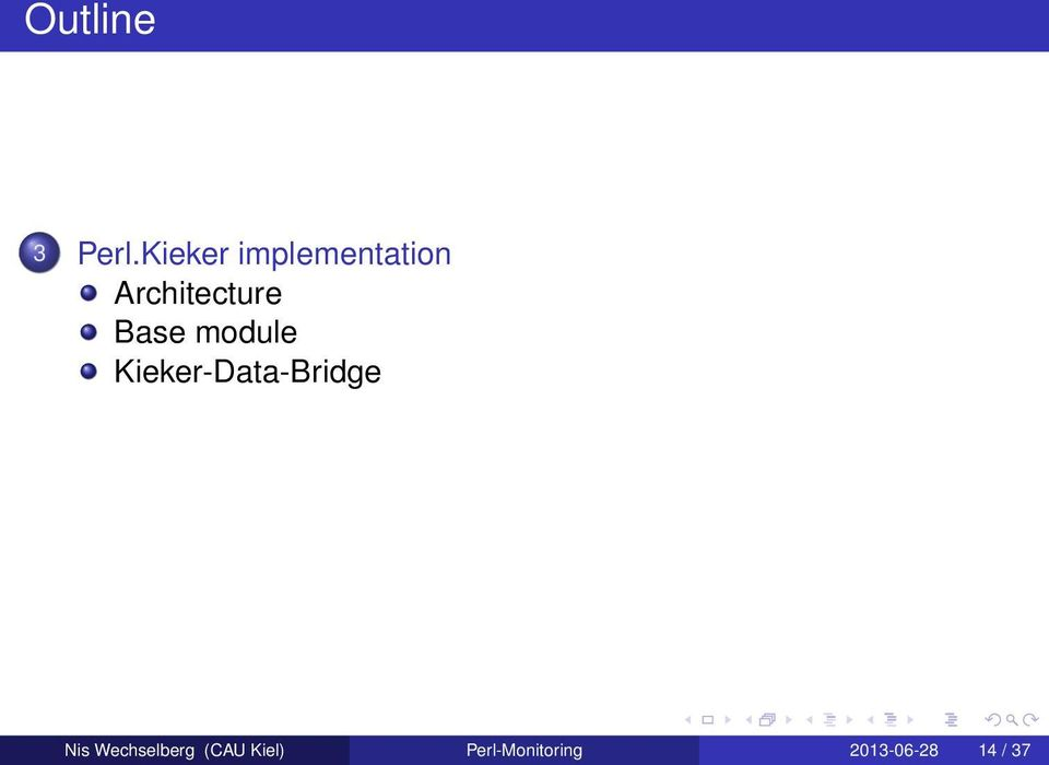 Base module Kieker-Data-Bridge Nis