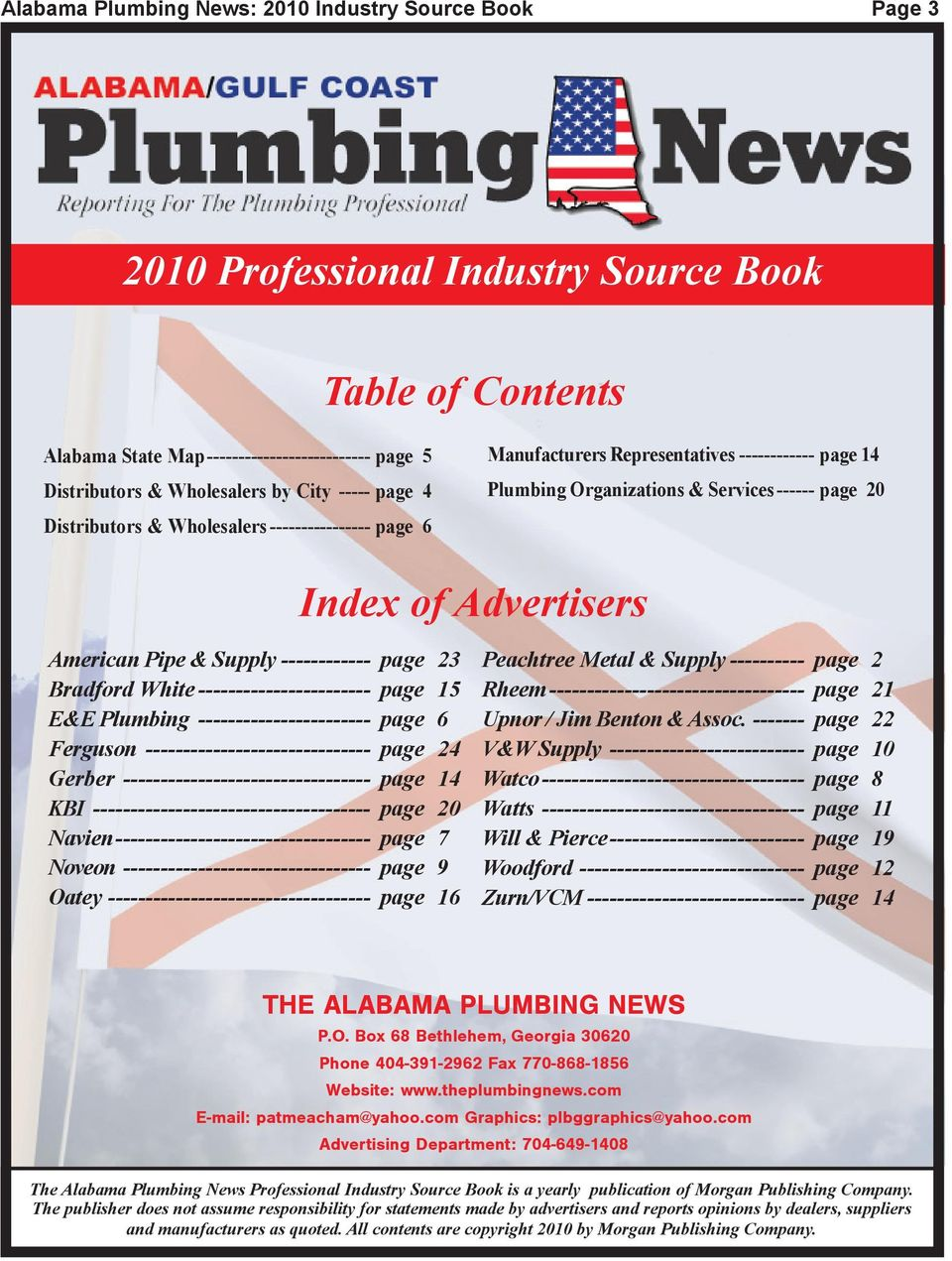 Alabama Plumbing News: 2010 Industry Source Book - PDF