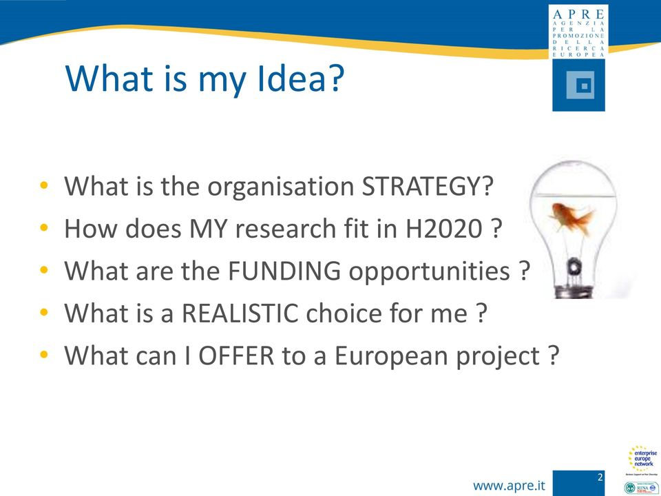 How does MY research fit in H2020?