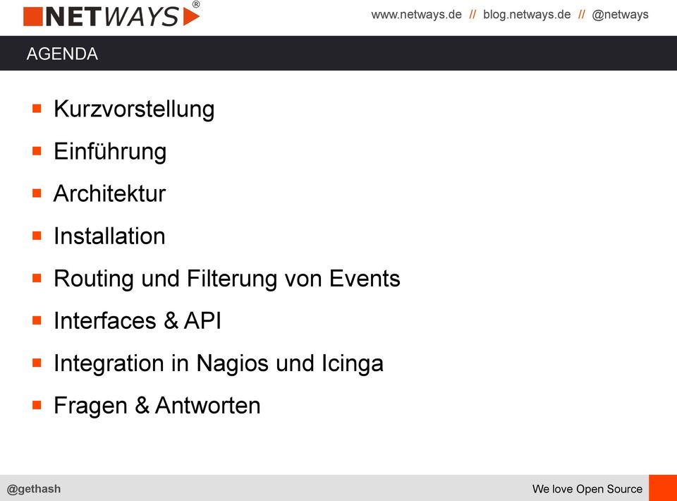 Filterung von Events Interfaces & API