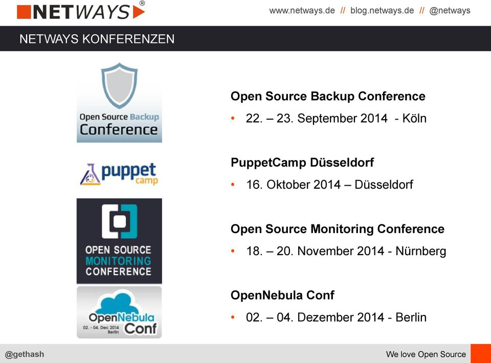 Oktober 2014 Düsseldorf Open Source Monitoring Conference 18.