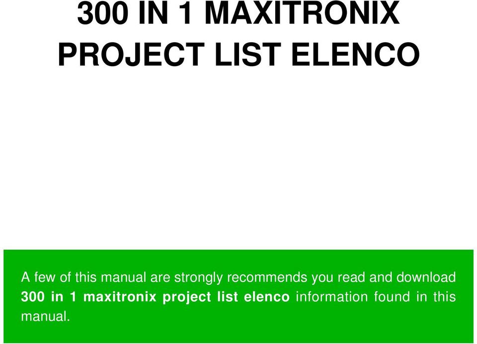 you read and download 300 in 1 maxitronix