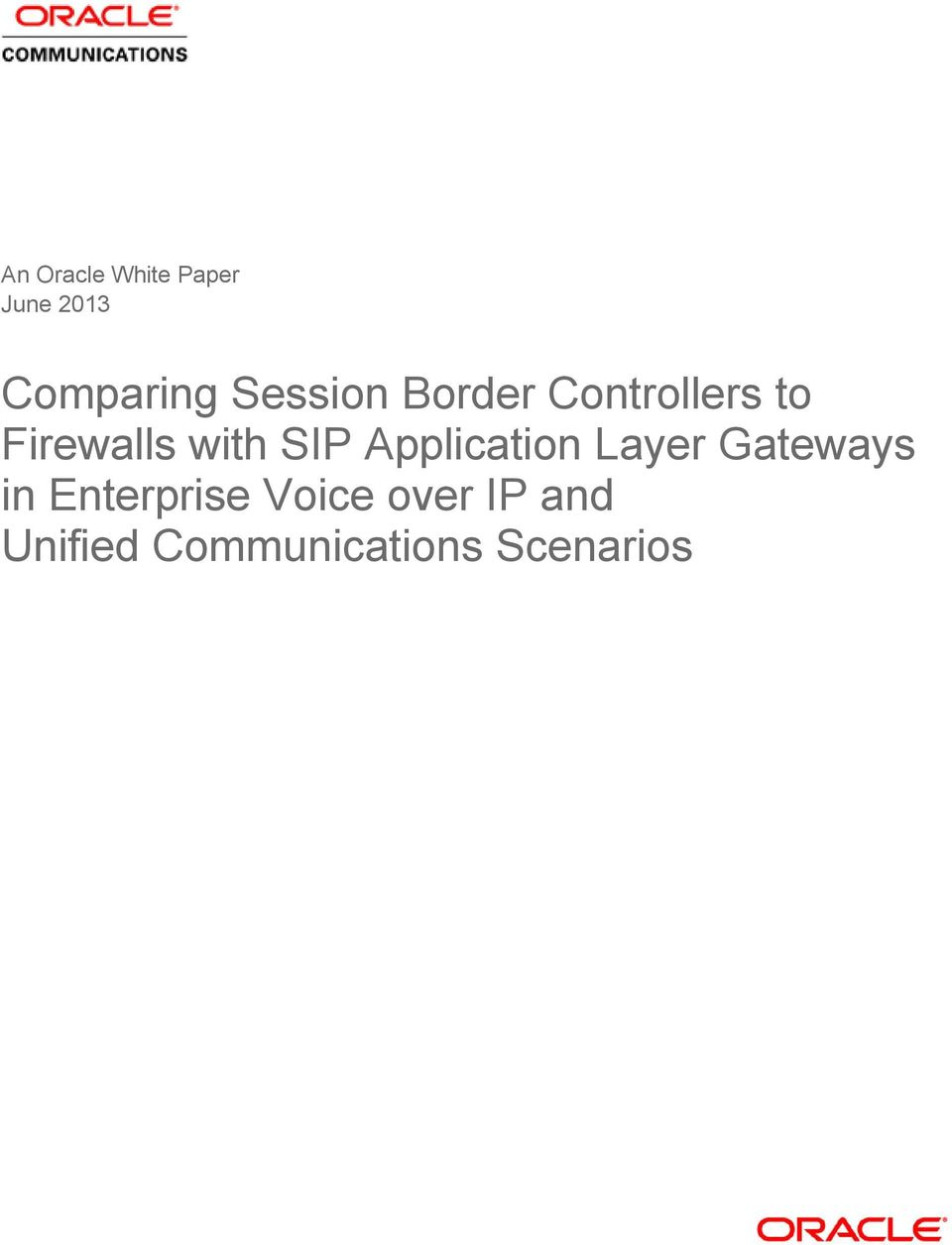 SIP Application Layer Gateways in Enterprise
