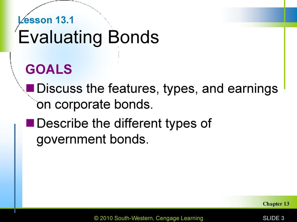 types, and earnings on corporate bonds.