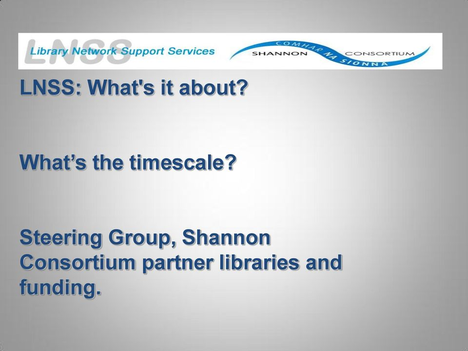 Steering Group, Shannon