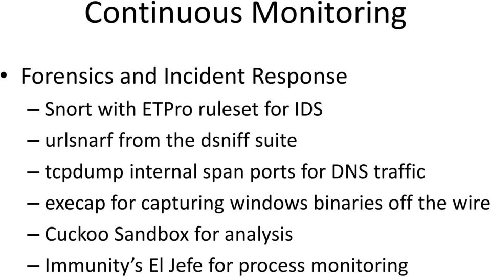 ports for DNS traffic execap for capturing windows binaries off the
