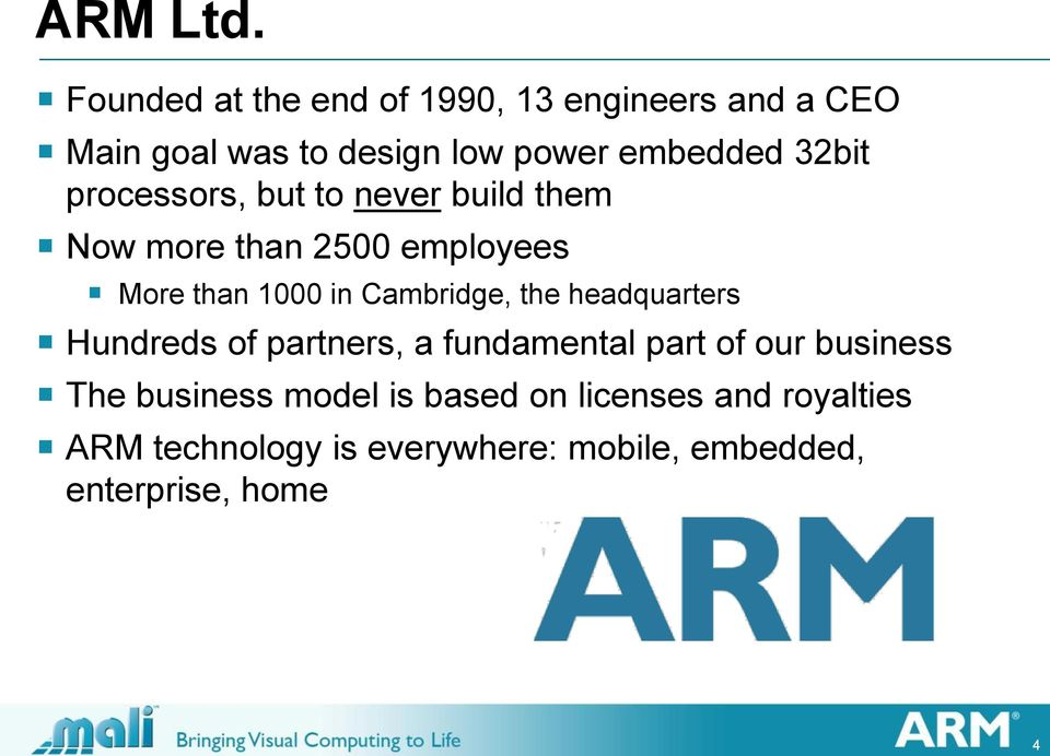 processors, but to never build them Now more than 2500 employees More than 1000 in Cambridge, the
