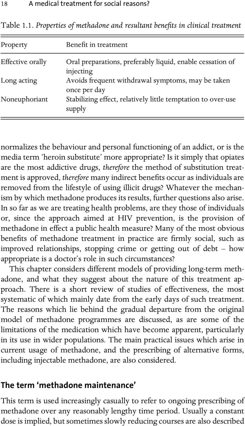 normalizes the behaviour and personal functioning of an addict, or is the media term heroin substitute more appropriate?