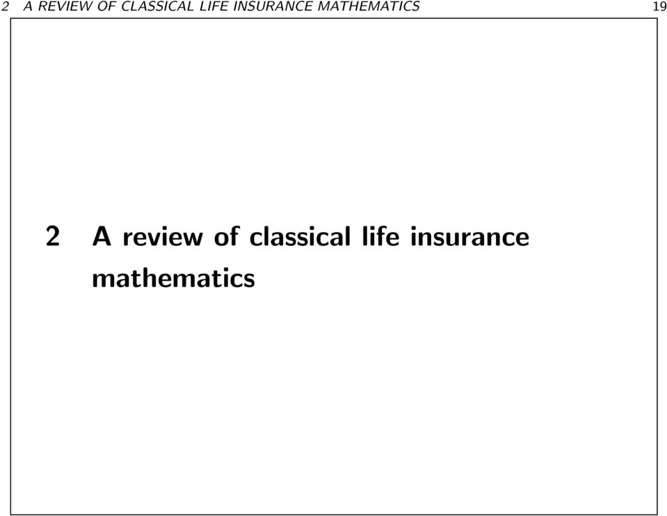 MATHEMATICS 19 2 A review