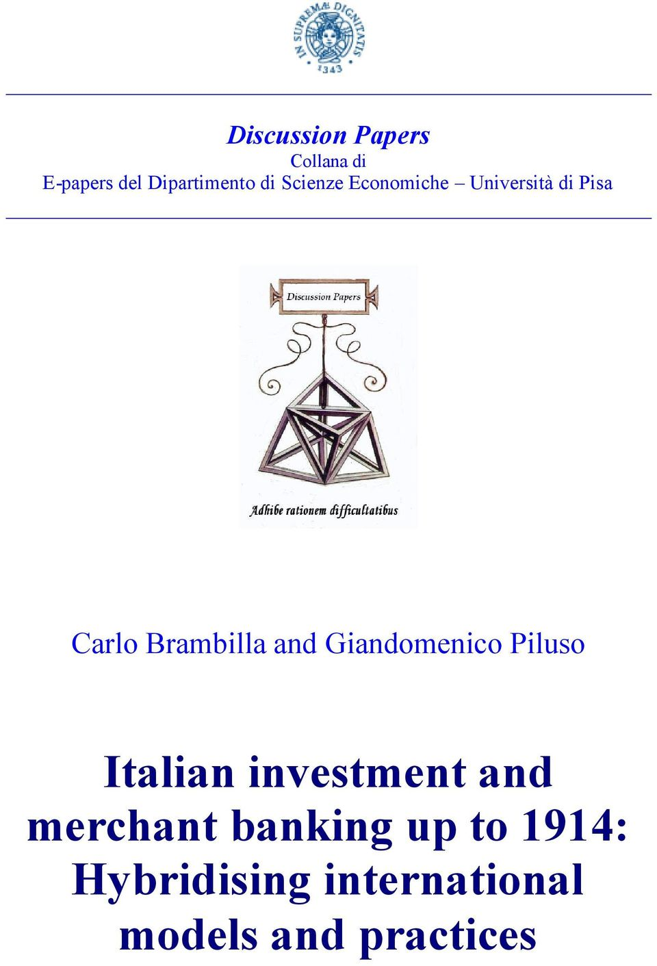 Giandomenico Piluso Italian investment and merchant