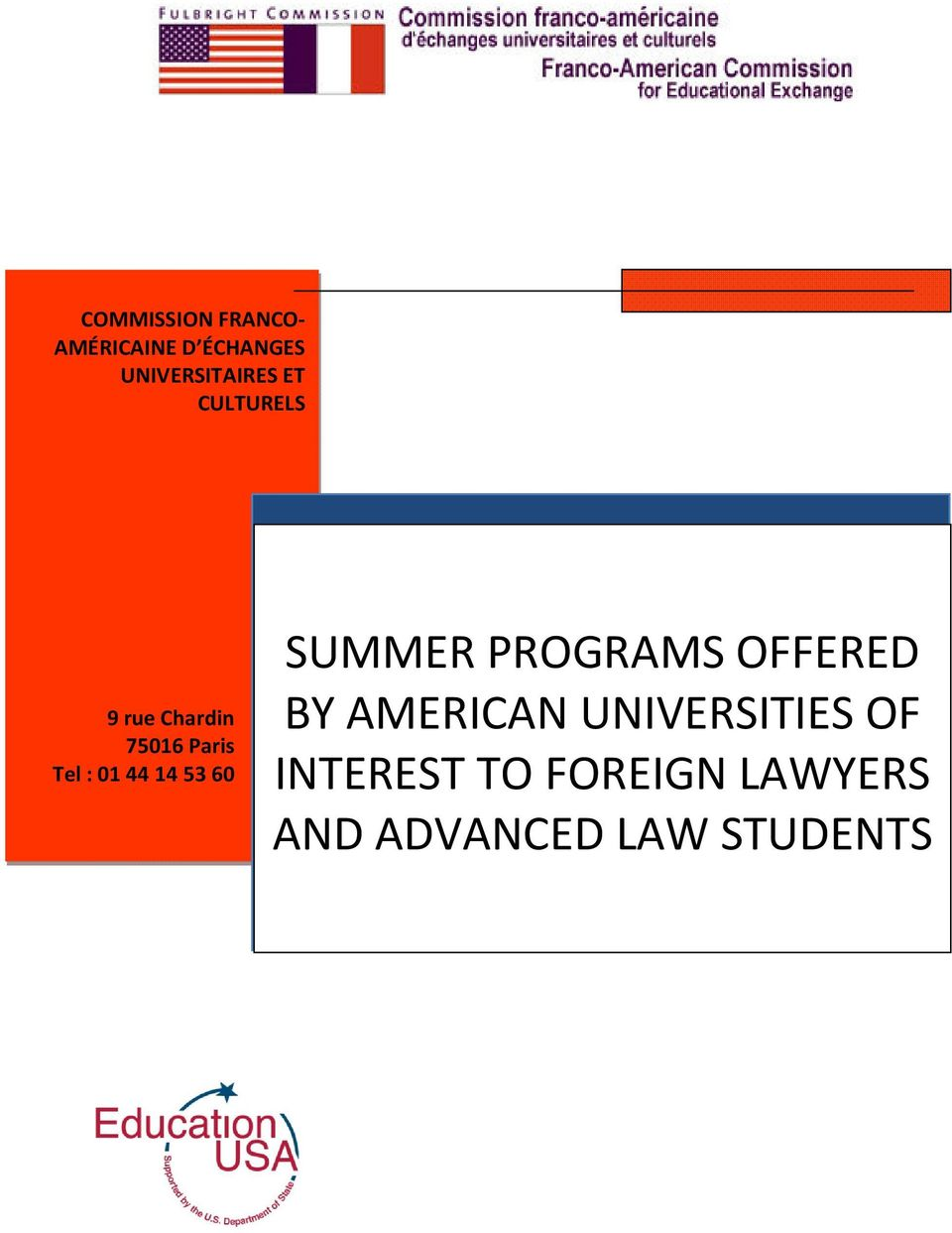 53 60 SUMMER PROGRAMS OFFERED BY AMERICAN UNIVERSITIES