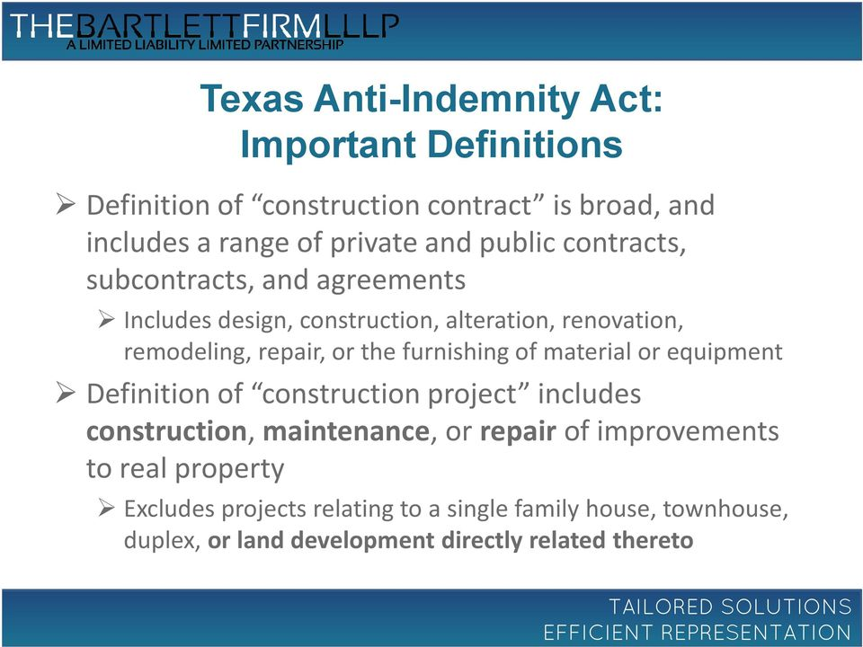 furnishing of material or equipment Definition of construction project includes construction, maintenance, or repair of