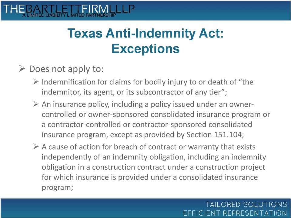 contractor-sponsored consolidated insurance program, except as provided by Section 151.