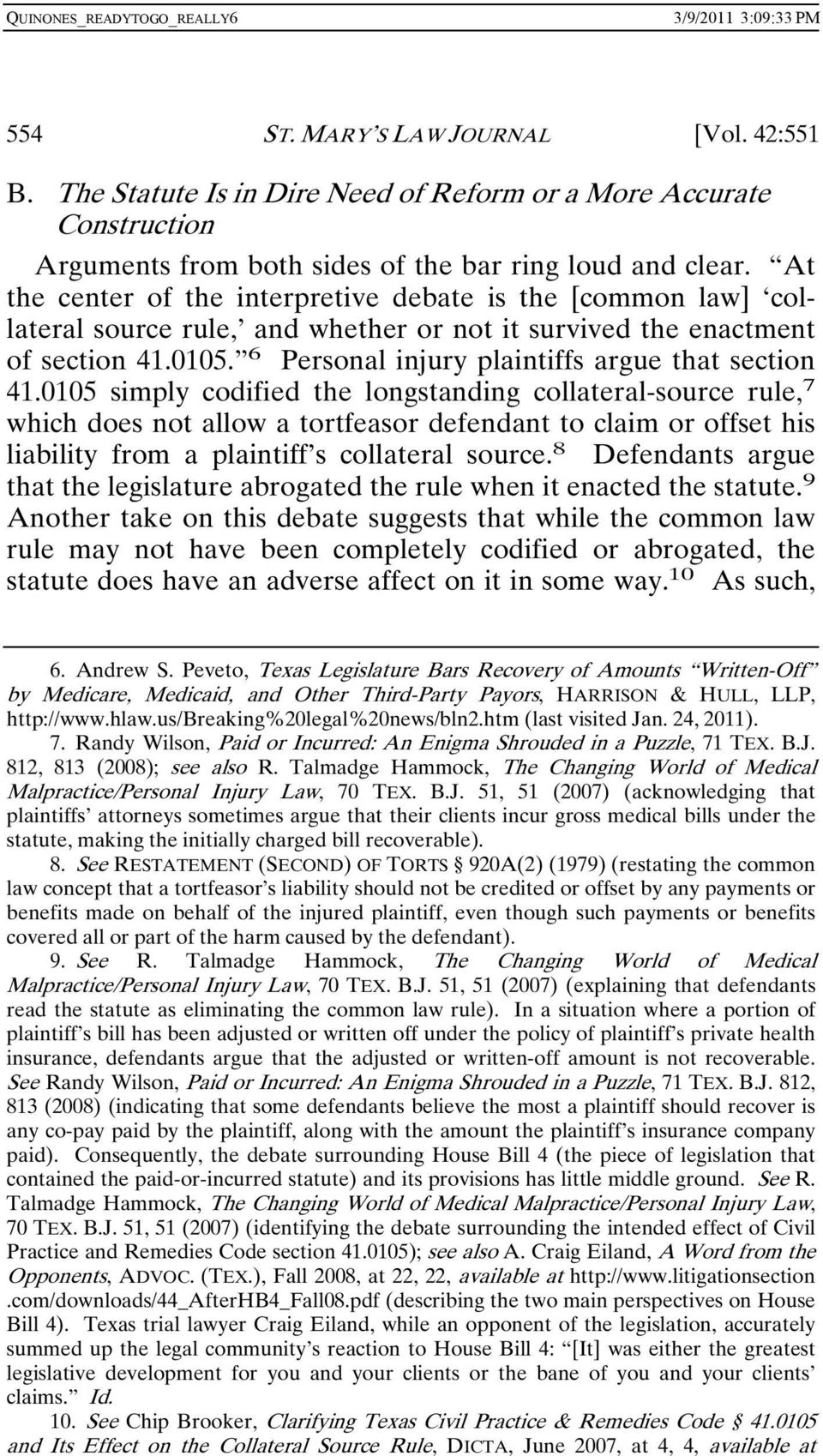 6 Personal injury plaintiffs argue that section 41.