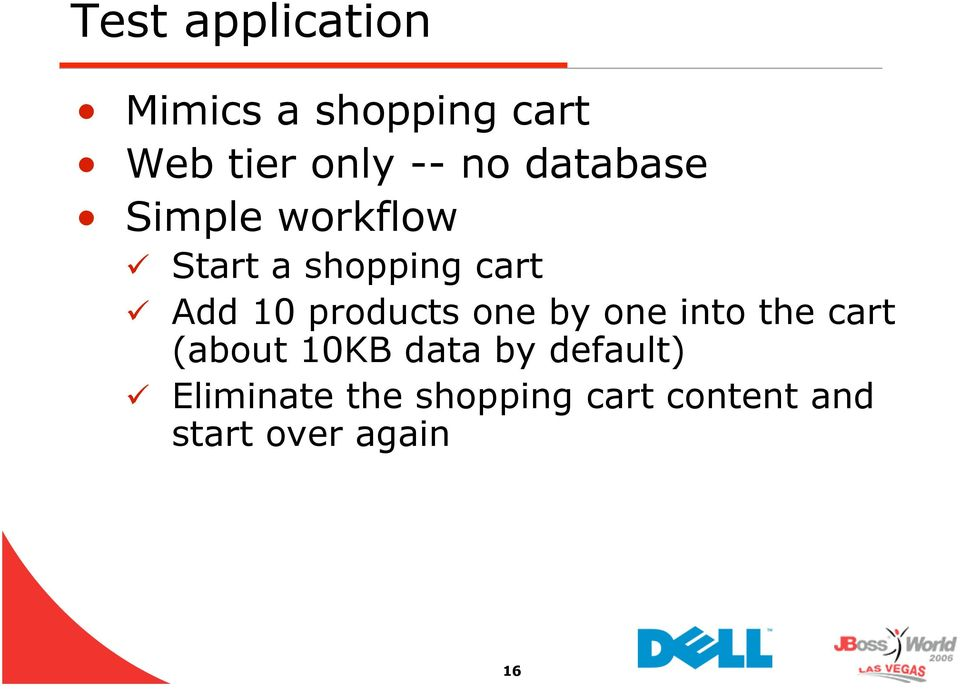 products one by one into the cart (about 10KB data by