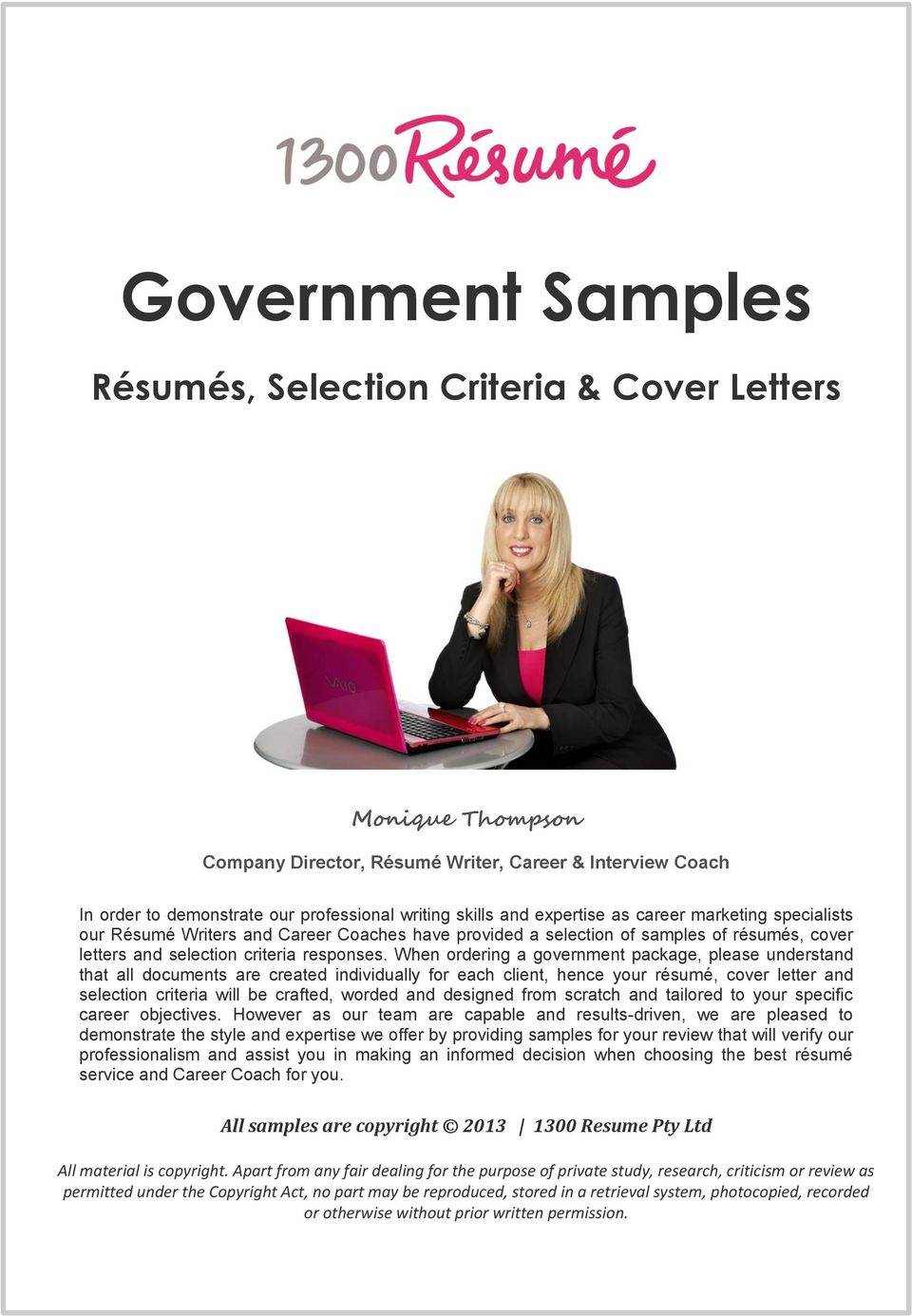 government sles r 233 sum 233 s selection criteria cover