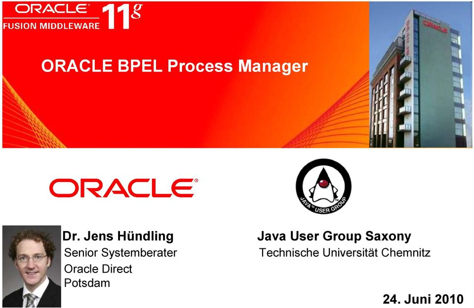 Jens Hündling Senior Systemberater Oracle