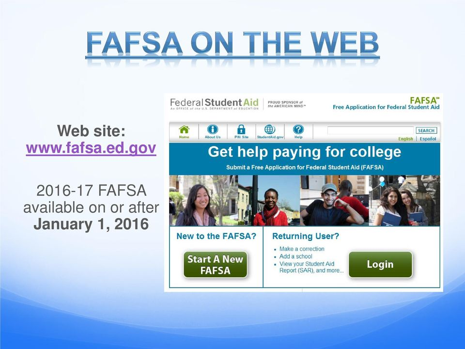 FAFSA available on