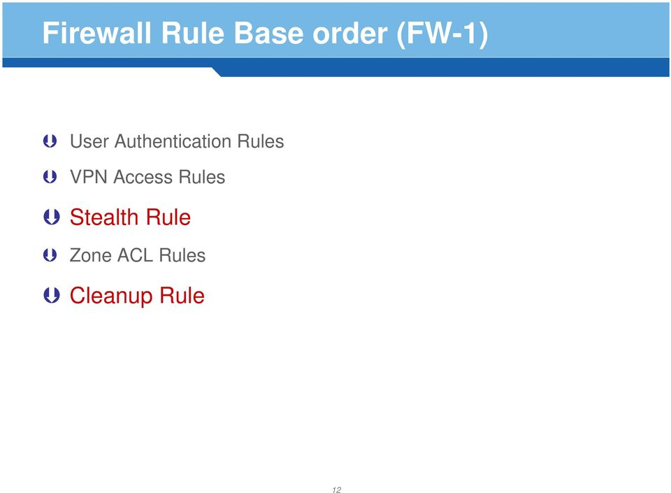Rules VPN Access Rules