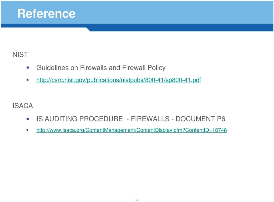 pdf ISACA IS AUDITING PROCEDURE - FIREWALLS - DOCUMENT P6