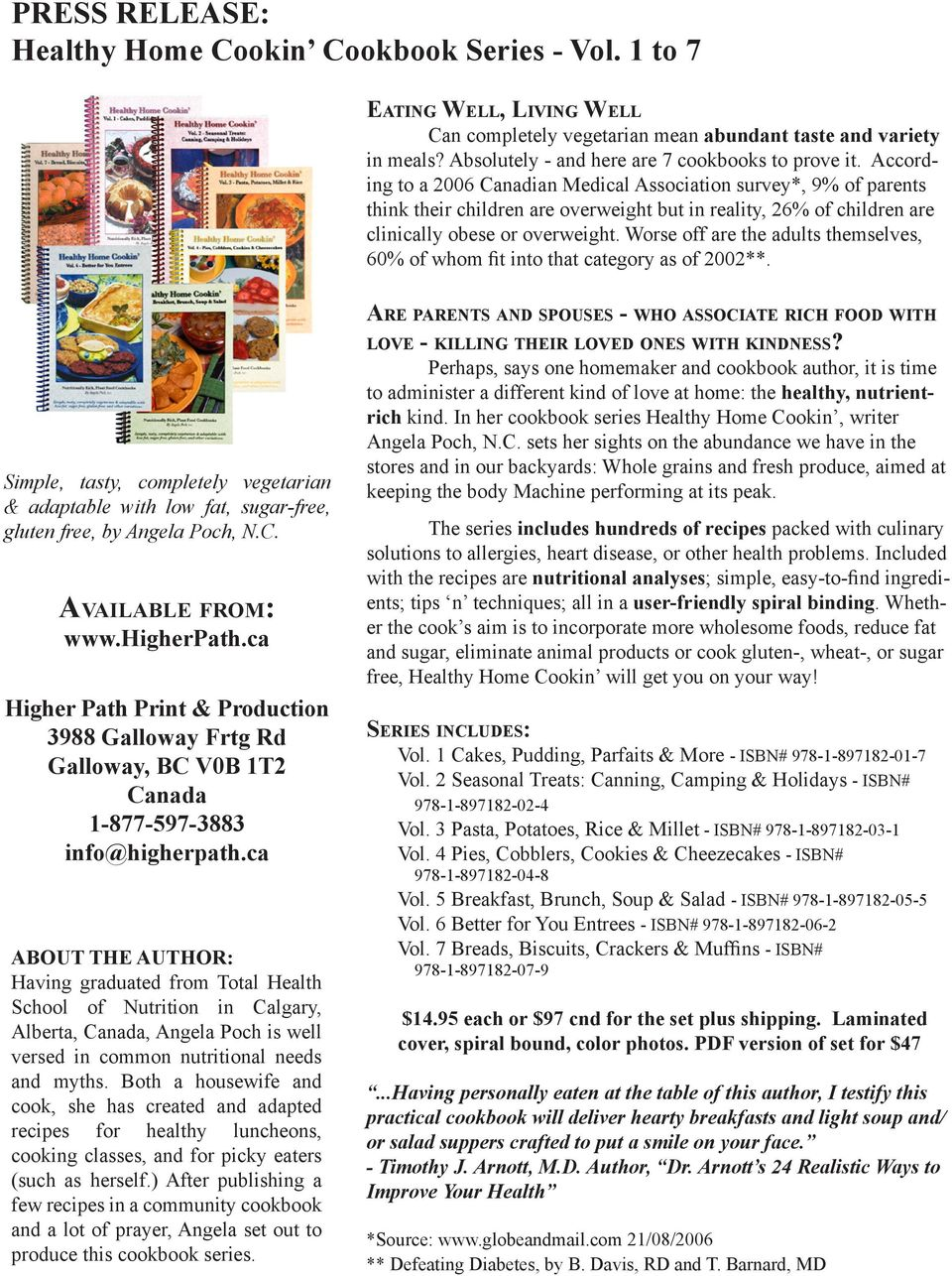 Vegetarian Recipes from Healthy Home Cookin and 3ABN! - PDF