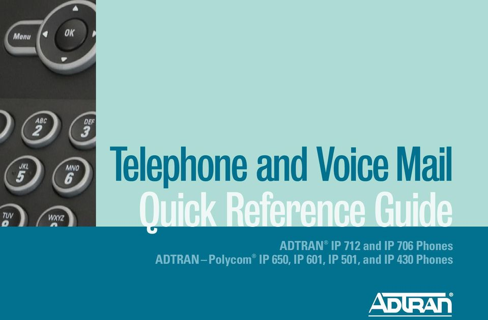 IP 706 Phones ADTRAN Polycom IP