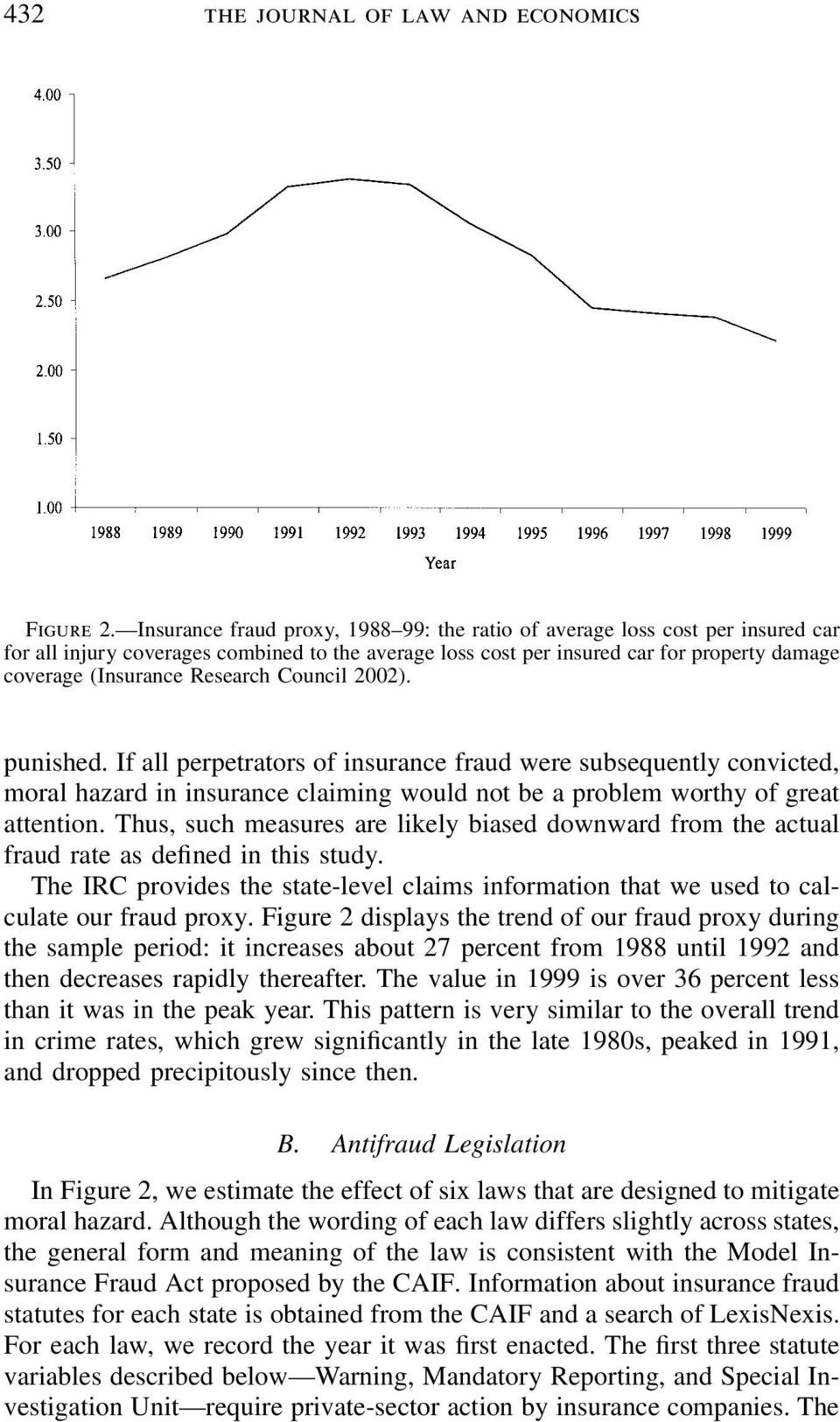 Research Council 2002). punished. If all perpetrators of insurance fraud were subsequently convicted, moral hazard in insurance claiming would not be a problem worthy of great attention.
