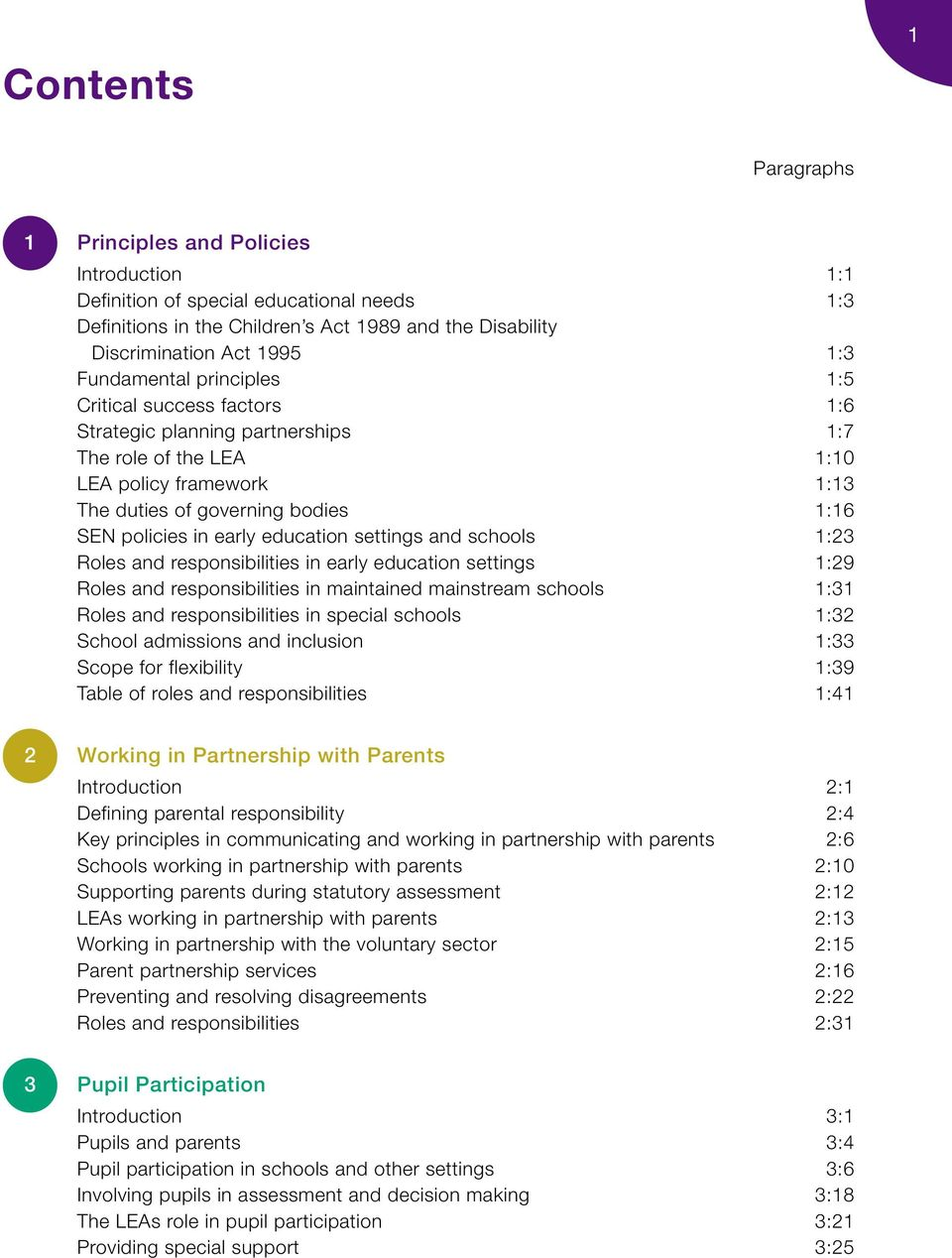 early education settings and schools 1:23 Roles and responsibilities in early education settings 1:29 Roles and responsibilities in maintained mainstream schools 1:31 Roles and responsibilities in