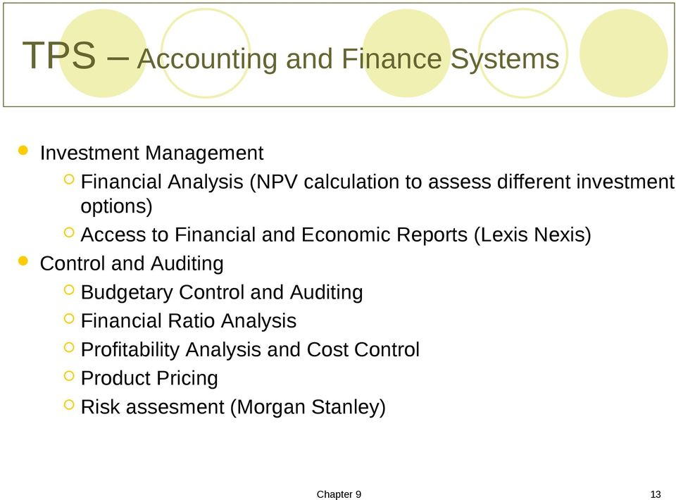 Reports (Lexis Nexis) Control and Auditing Budgetary Control and Auditing Financial Ratio