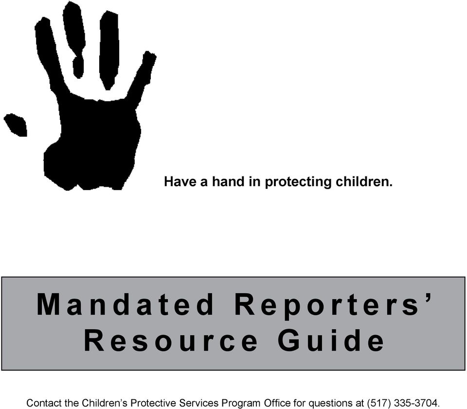 Contact the Children s Protective