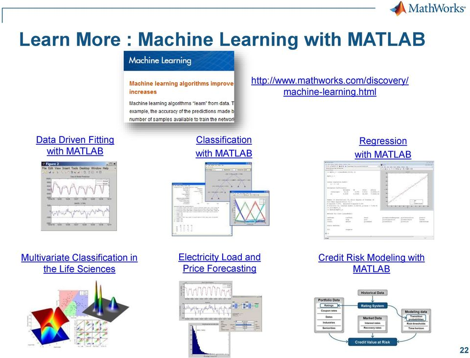 html Data Driven Fitting with MATLAB Classification with MATLAB Regression