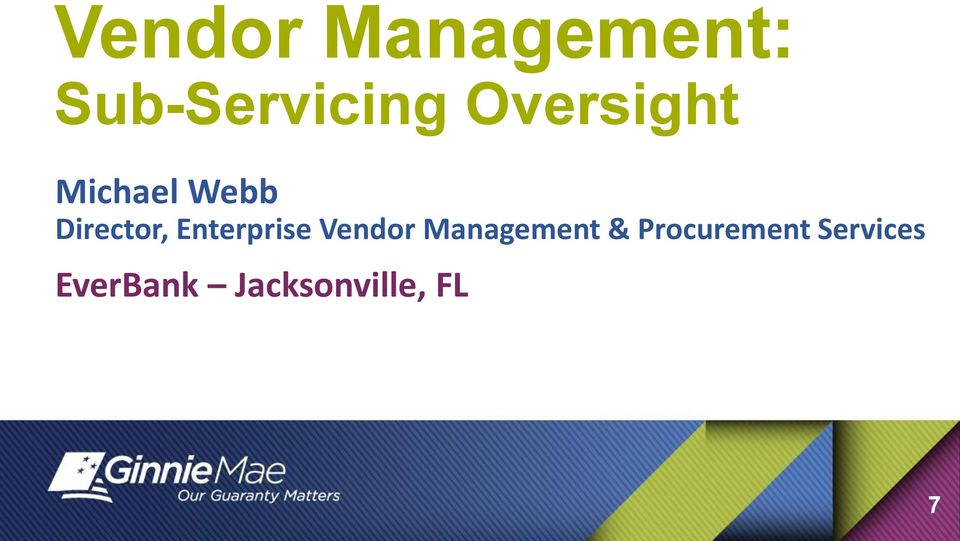Enterprise Vendor Management &