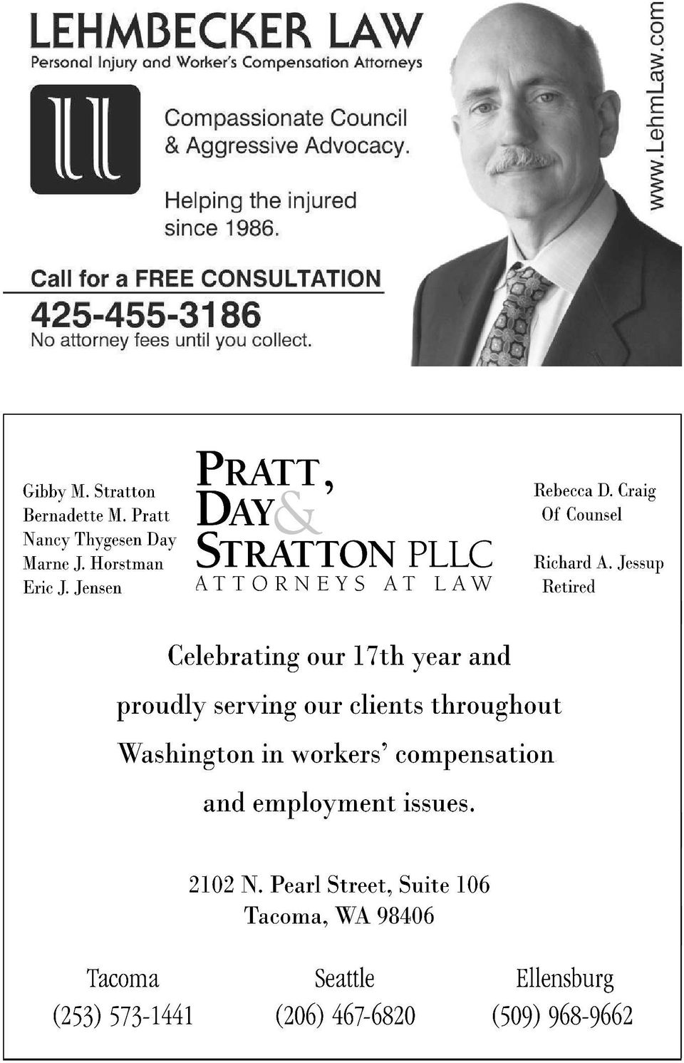 Jensen PRATT, DAY j. STRATTON PLLC ATTORNEYS AT LAW Rebecca D. Craig Of Counsel Richard A.
