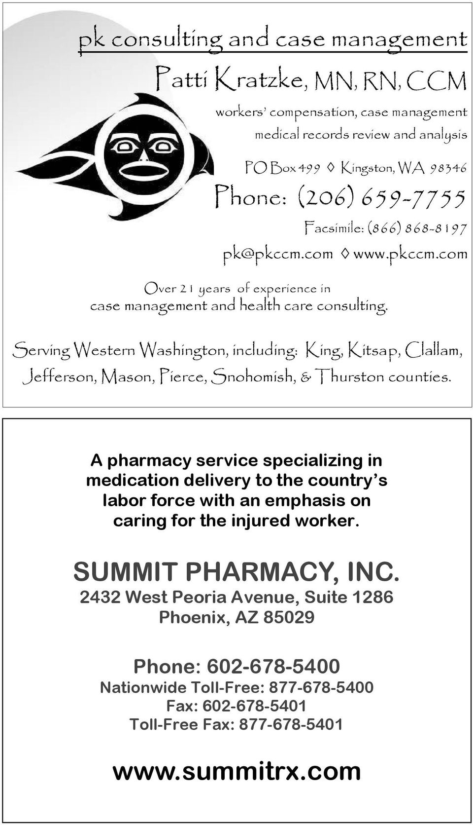 Serving Western Washington, including: King, Kitsap, Clallam, Jefferson, Mason, Pierce, Snohomish, & Thurston counties.
