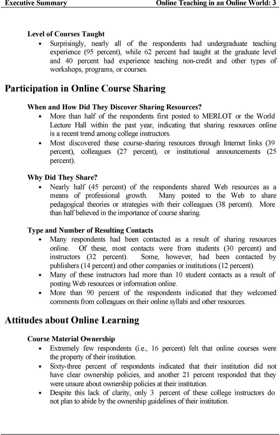 Participation in Online Course Sharing When and How Did They Discover Sharing Resources?