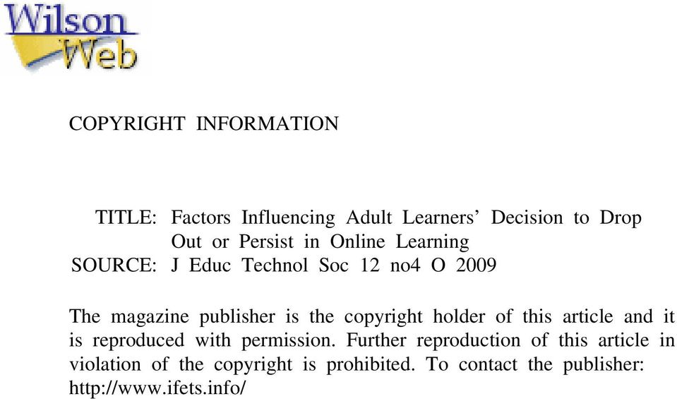 copyright holder of this article and it is reproduced with permission.