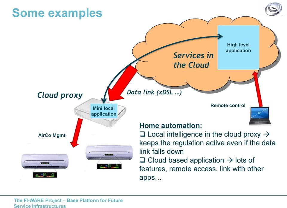 intelligence in the cloud proxy keeps the regulation active even if the data link